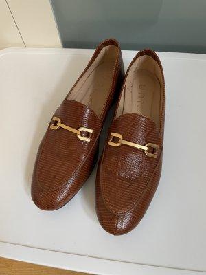 Slipper Loafer Unisa Cognac-braun / gold