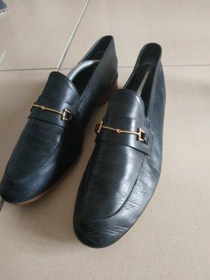 Topshop Moccasins black leather