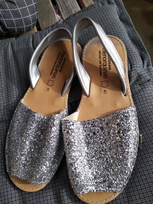 menorquinas Slippers silver-colored