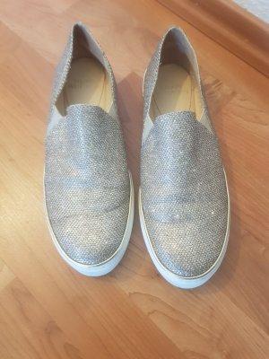 Stuart weitzman Zapatos formales sin cordones blanco-color plata