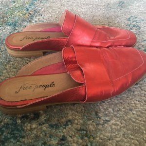 Free People Mocassins rood