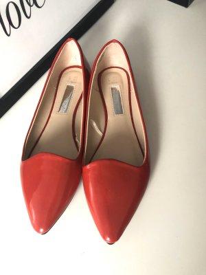 Primark Bailarinas de charol con tacón rojo-rojo ladrillo