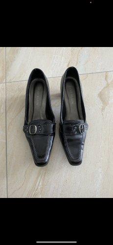Pantoffels zwart-zilver
