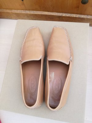 Tod's Slippers camel leather