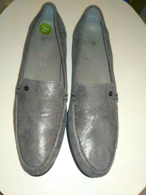 ara Pantofola grigio-nero Pelle
