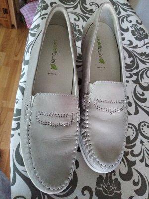 Waldläufer Zapatos formales sin cordones blanco-gris claro Cuero