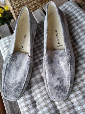 Waldläufer Slippers silver-colored-light grey