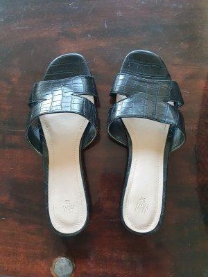 H&M Sandalo con tacco nero