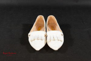 Rupert Sanderson Slingback Ballerinas natural white leather