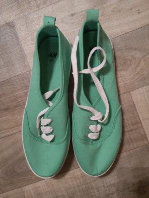 slippers schuhe sneakers grün von h&m gr. 37