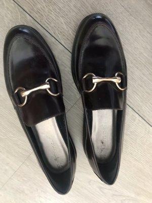 Slippers Tamaris Lack mit goldschnalle im Gucci Style Gr 38