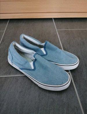 VTY Zapatos formales sin cordones azul claro