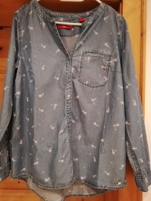 s.Oliver Blouse topje wolwit-azuur