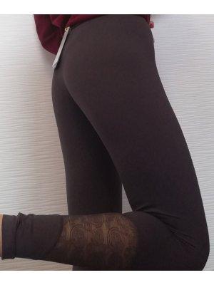 sloggi move graue Sport Fitness Leggings mit Spitze und Handytasche | Größe S/34