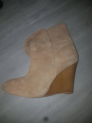 Slouch Booties sand brown-oatmeal