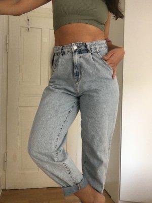 Mango Baggy Jeans azure