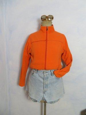 slouchy Joy Fleece Jacket Größe S Orange Sweater