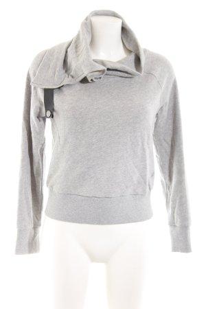 SLVR Sweatshirt hellgrau meliert Casual-Look