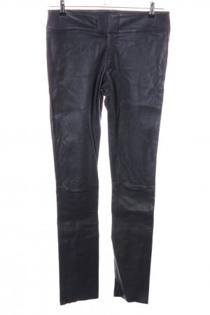 Sly 010 Lederhose blau Casual-Look