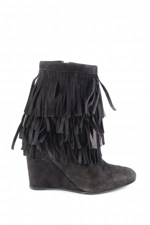 sly Keil-Stiefeletten schwarz Casual-Look