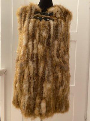 Sly 010 Fur vest cognac-coloured pelt