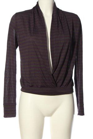 sly Koszulka w paski fiolet-jasnoszary Wzór w paski W stylu casual