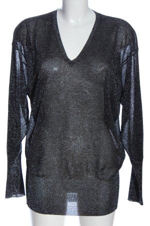 sly V-Ausschnitt-Pullover schwarz Casual-Look