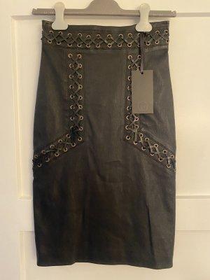 Sly 010 Falda de cuero negro Cuero