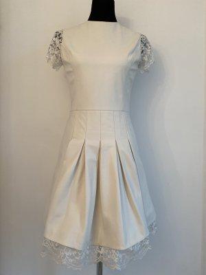 Sly010 Leder Kleid weiß