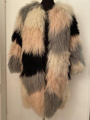 Sly 010 Futrzany płaszcz Wielokolorowy Futro