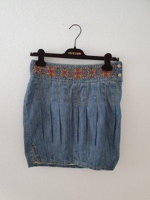 small denim jeans rock midi Tommy Hilfiger Denim Ballon Perlen Stickerei Marke Designer hochwertig