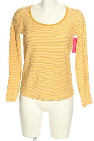 small talk Camisa de rayas naranja claro estampado a rayas look casual