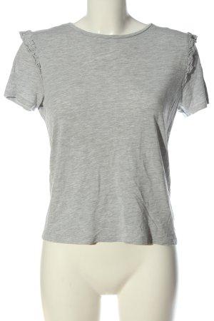 small talk Camiseta gris claro moteado look casual
