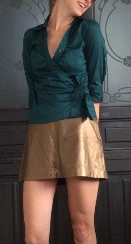 Smaragd farbene Wickelbluse