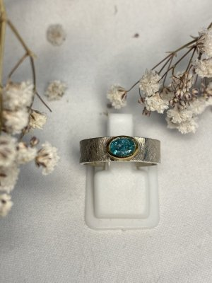 Smaragd Ring vergoldet