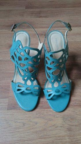 Hoge hakken sandalen veelkleurig Leer