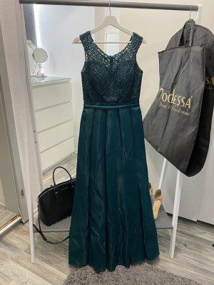 Modessa Robe de bal vert foncé