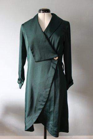 Gabardina tipo vestido verde oscuro-verde bosque