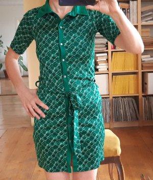 H&M Robe chemise vert foncé-vert forêt acrylique
