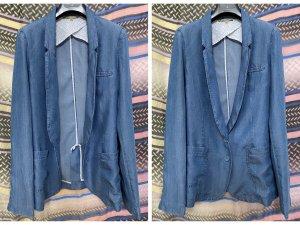 Patrizia Pepe Blazer in jeans blu fiordaliso Lyocell