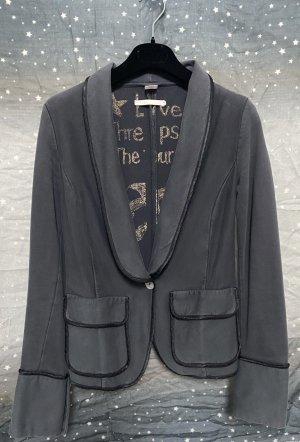 Nolita Blazer de tela de sudadera gris oscuro-negro Algodón