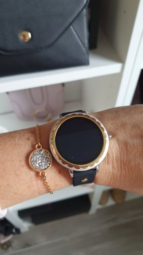Kate Spade Watch With Leather Strap black