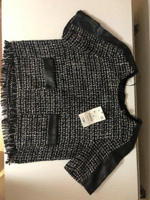 Zara Koszula typu carmen biały-czarny