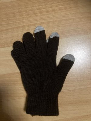 Knitted Gloves white-black