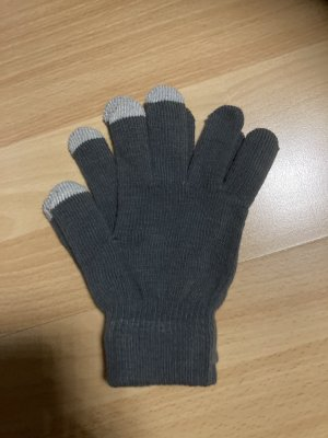 Knitted Gloves white-dark grey