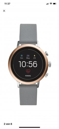 Fossil Digital Watch grey-rose-gold-coloured