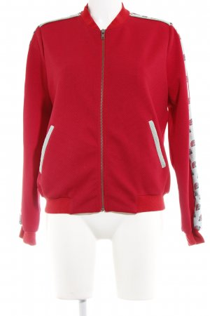 Smash Blouson rot-hellblau grafisches Muster Casual-Look