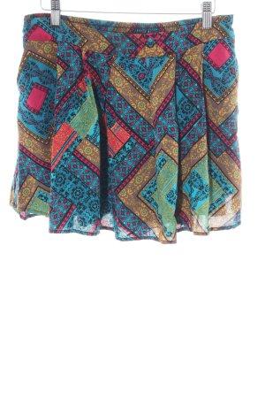 Smash High-Waist-Shorts abstraktes Muster Casual-Look