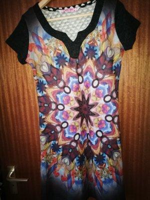 Smash Vestido de tela de sudadera multicolor