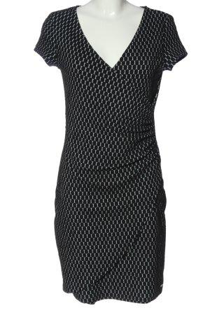 Smash Shortsleeve Dress black-light grey allover print casual look